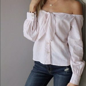 Free People Hello There Beautiful Off Shoulder Top